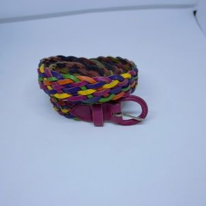 Argentina Multi-color Weave Leather Belt small